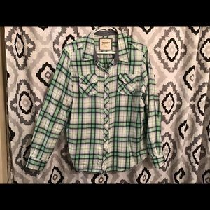 Women's green/blue flannel